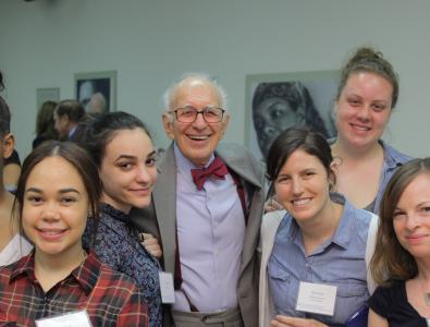 Nobel laureate and Zuckerman Institute Codirector Eric Kandel, MD, with Teacher Scholars